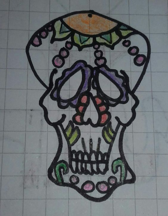 Thank you to my father, who drew the contours of this Calavera