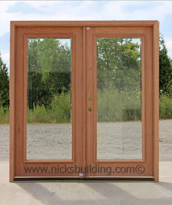 French doors glass doors wood door with glass back for Double glass french doors