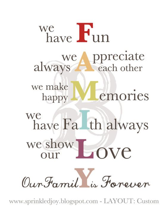 FAMILY - Customizable printable - i like how you can have your last name initial in the backround