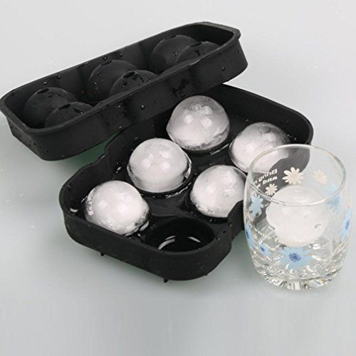 Ice Tray Mold Balls Maker Round Sphere Cube Whiskey Ball Cocktails Silicone