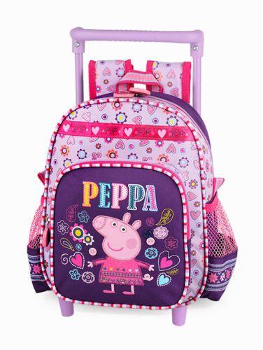 Details about Peppa Pig Pink Backpack Rucksack Lunch Bag ...