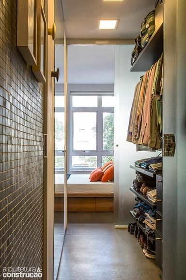 Revista Arquitetura e Construção - Apartamento pequeno, masculino e descolado