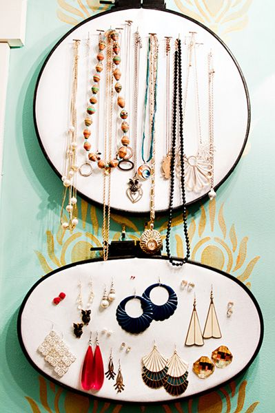 embroidery hoop jewerly storage