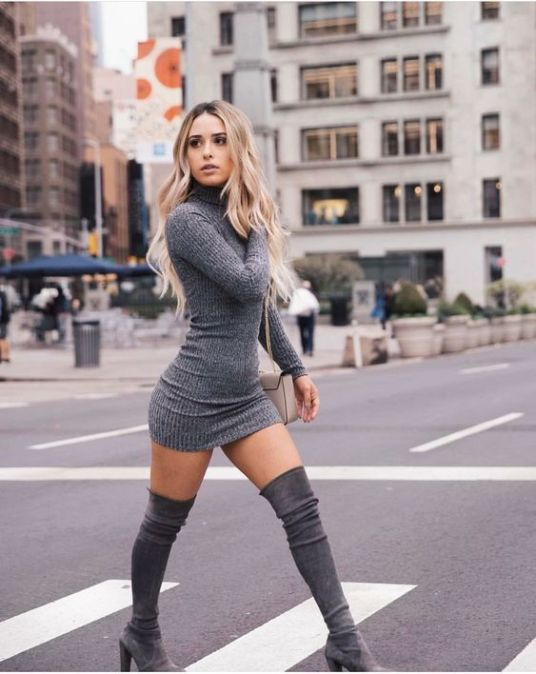 60+ Thigh High Boots Outfit Street