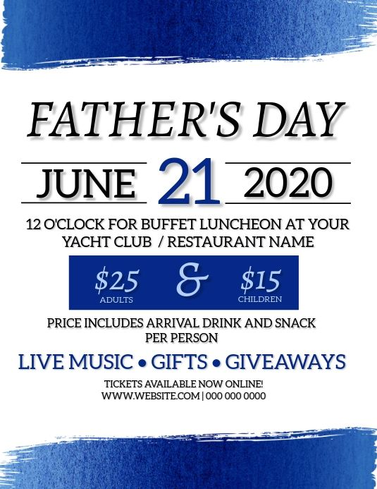Father S Day Event Flyer Template Event Flyer Templates Fathers Day Poster Father S Day Celebration