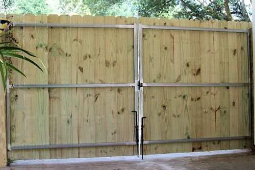 6 ft gate plans wrought iron driveway gates and fence for Driveway gate plans