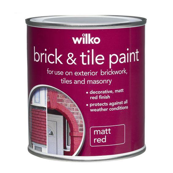 Wilko Red Tile Paint