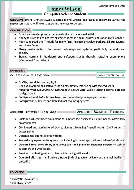 The Best Resumes why this is an excellent resume business insider See The Best Resume Format For Freshers Simple Resume Format