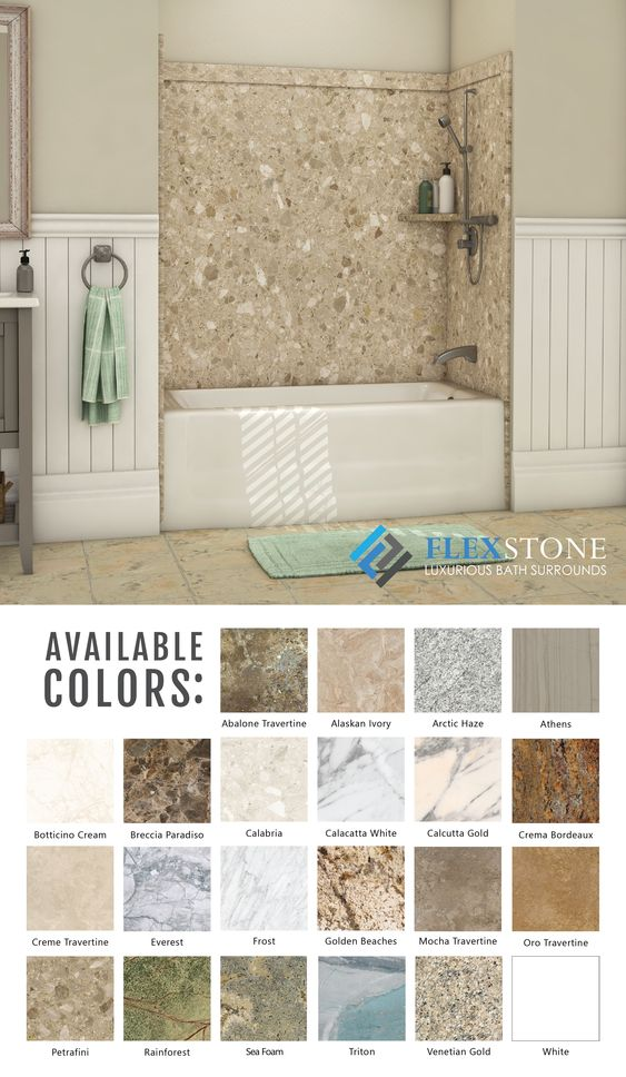 Flexstone Colors Are Sampled From Actual Slabs Of Granite Marble