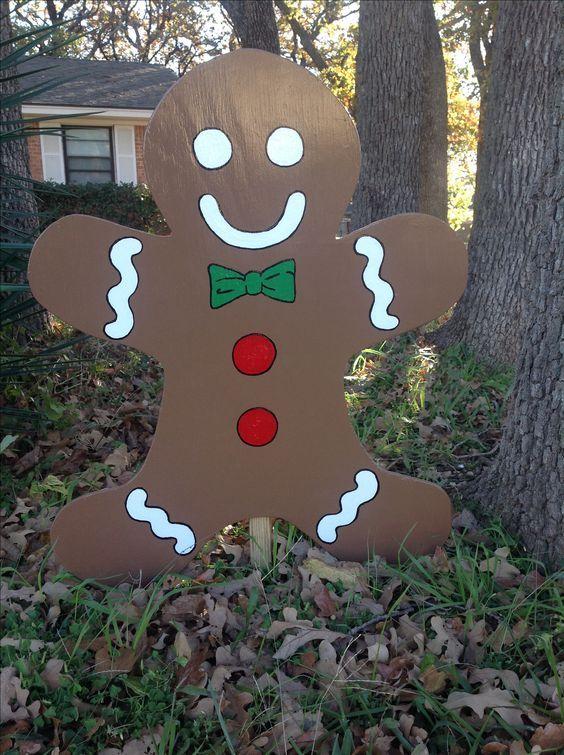 Diy Outdoor Christmas Decorations Gingerbread Man Diy Cuteness Christmas Yard Art Christmas Decorations Diy Outdoor Christmas Decor Diy