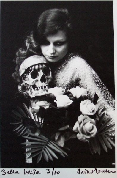 black and white, editorial, fashion, irina ionesco, roses, skull - inspiring picture on Favim.com