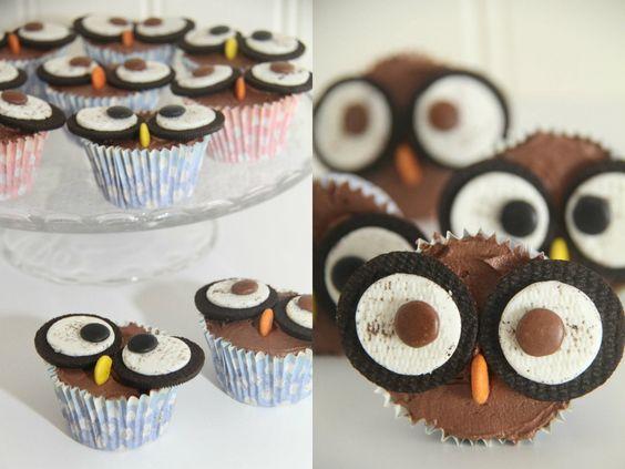 Ugle cupcakes :-)