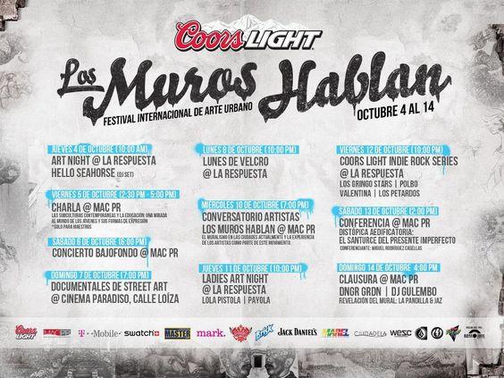 Primer Festival Internacional de Arte Urbano Los Muros Hablan
