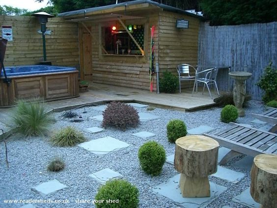 Bar shed sheds and bar on pinterest for Garden shed bar