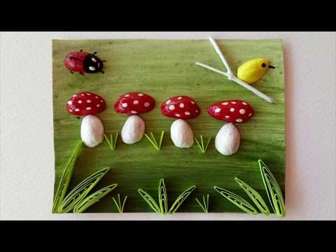 Pista Shell Craft Reuse Pista Shelll Quilling For Beginners Wall
