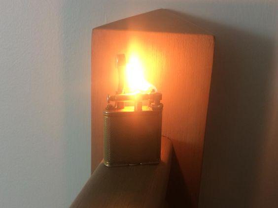 Solid Brass Dunhill Lift-Arm 'Wafer' Cigarette Lighter (Ca