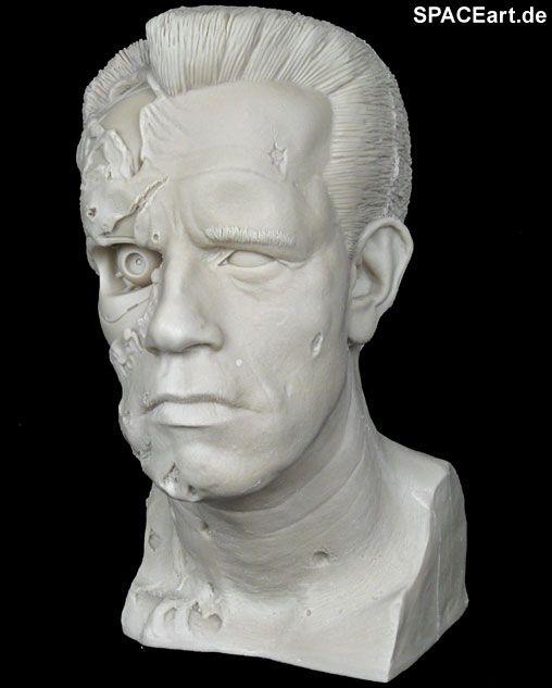 Terminator 2: T-800 Life-Size Damage Büste, Modell-Bausatz ... http://spaceart.de/produkte/te018.php