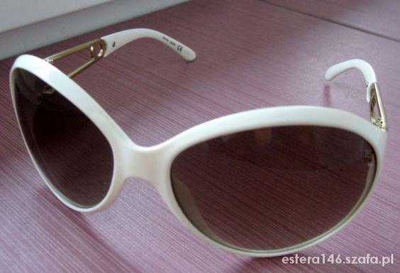 Okulary Białe Złote Wstawki Jak Nowe   Cena: 10,00 zł  #okularyprzeciwsloneczne #bialeokularyavon