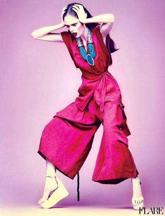 Coco Rocha- Feburary 2012 / Fashion Director: Elizabeth Cabral / Art Director: Tanya Watt / Photographer: Chris Nicholls #fashion