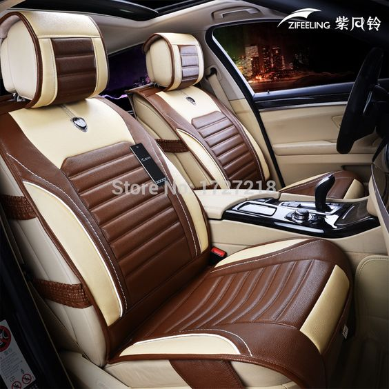 Free Shipping 100% leather car covers  Five seat car  general  car accessories for four seasons - http://sns.waimaobox.com/?p=33296