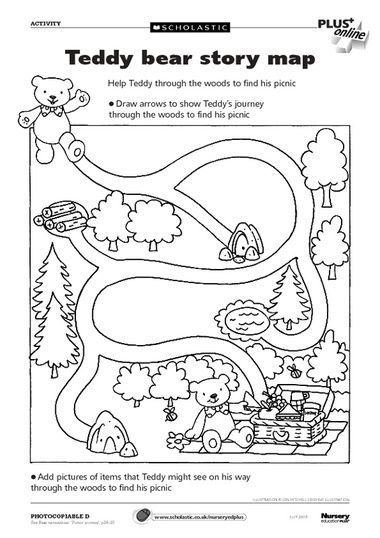 Worksheet Scholastic Teaching Resources Worksheets story maps teddy bears and on pinterest bear map free early years teaching resource scholastic