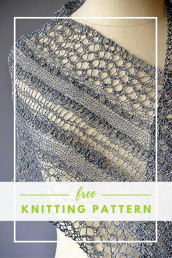Knit Scarf Pattern Size 5 Needles : Kanten sjaal, Breien and Breipatronen on Pinterest