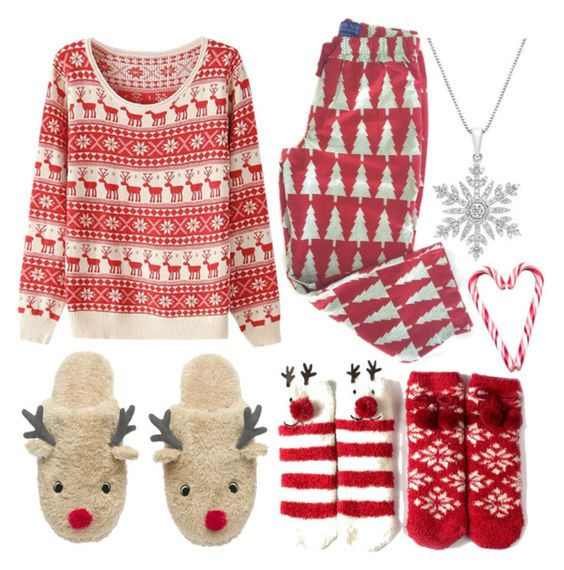 """""""The Night Before Christmas!"""" by lina-hang ❤ liked on Polyvore featuring Hershey's, women's clothing, women, female, woman, misses and juniors"""