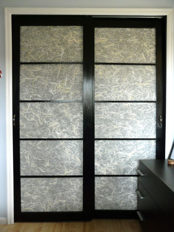 Simple and affordable DIY Shoji closet doors made with pine wood, unryu  rice paper,