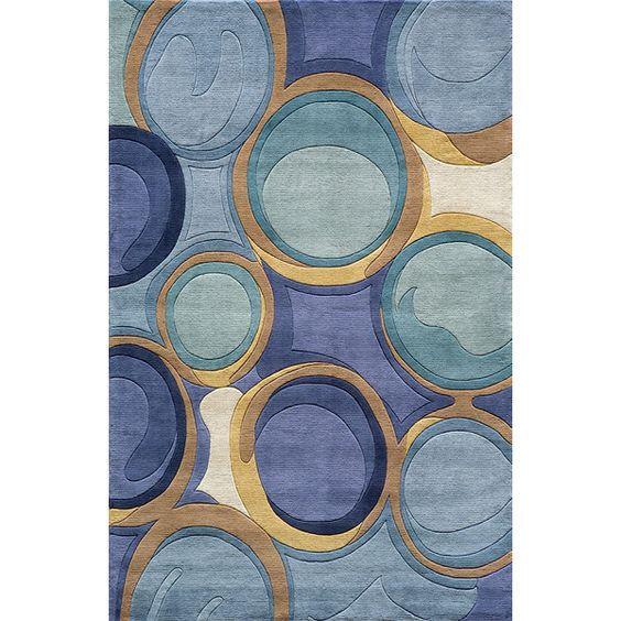 Momeni Newwave Blue Area Rug & Reviews | Wayfair