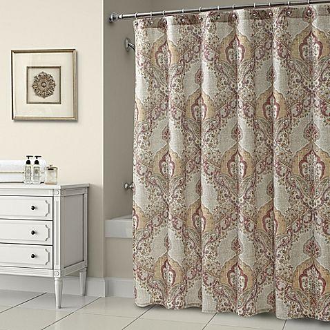 Croscill Maya Shower Curtain In Rust Curtains Fabric Shower