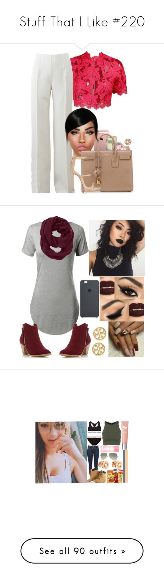 """Stuff That I Like #220"" by jasmine-humphries ❤ liked on Polyvore featuring Michael Kors, Yves Saint Laurent, Giuseppe Zanotti, Athleta, Dorothy Perkins, Tory Burch, tops, crop tops, shirts and tank tops"