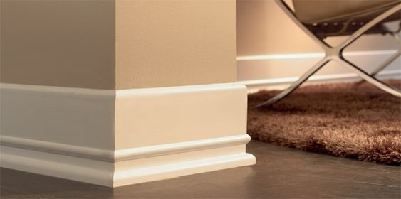 Baseboards moldings and art deco style on pinterest for Art deco baseboard molding