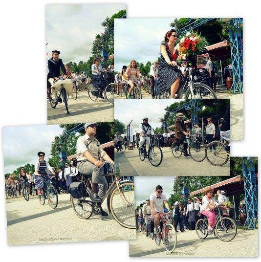 Dimanche 19 juin, j'étais au départ du vélo agglo retro à Laval en Mayenne. Une seconde édition riche en fleurs, robes à pois et ambiance vintage.