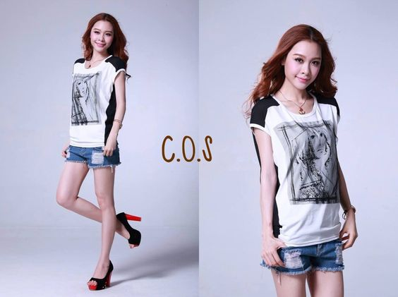 Female 315B-2871-BF  Cotton T-shirt with prints Brand: Buchi Ling Size: S M XXL L XL Fabric: Cotton Sleeve: Short Sleeve Collar type: Length: conventional models (55-65CM) Popular elements: collage / mosaic gauze Main color: Khaki Yellow White Red Blue Sleeve type: bat sleeve Year season: 2013 summer Applicable to the crowd: 18-24 Plate type: Slim Main ingredient: 96% and above  RM 25