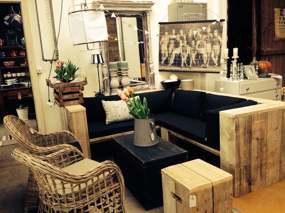 Bauholz Lounge Rattan Stühle