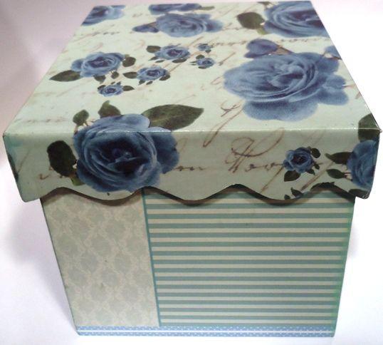 Cajas decoradas con laminas de papel diseños Herminia Devoto por Lucila Medina Gomez