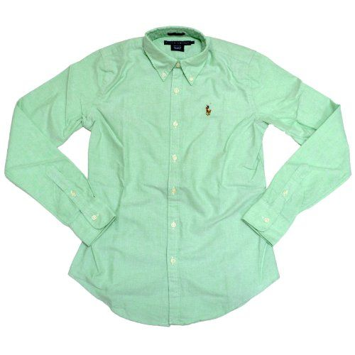 Image result for womens green oxford shirt