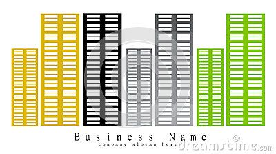 Building corporation on the white background. Logo design company