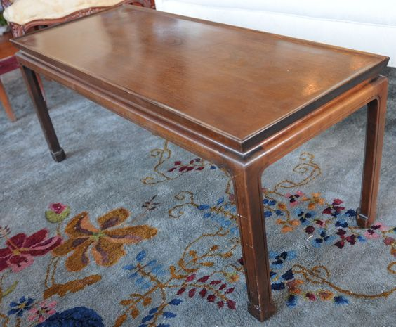 Chinese Chippendale Walnut Coffee Table