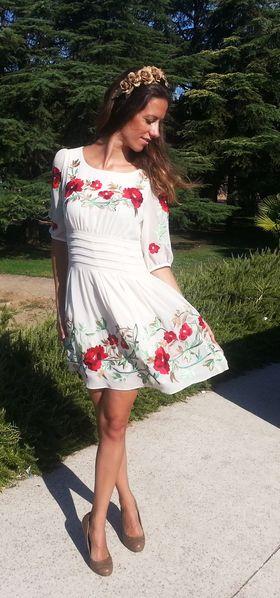 Vestido bordado http://probandoropa.com/es/vestidos/vestido-bordado