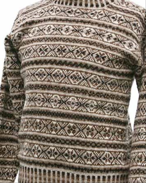 Anderson & Co. - Galta Natural Browns Fair Isle Sweater ...