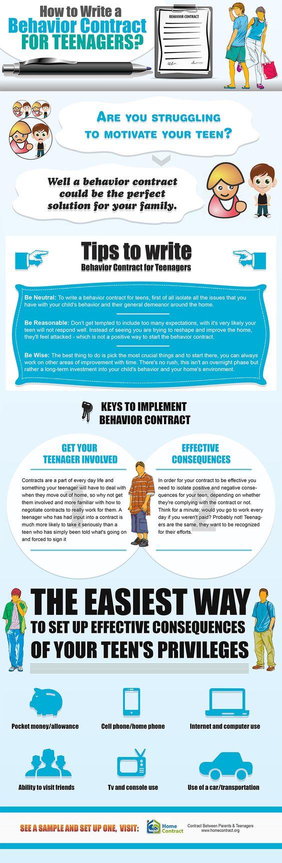 Contracts Work Teen Behavior 77