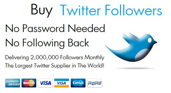Buy twitter followers from the best supplier on the web !