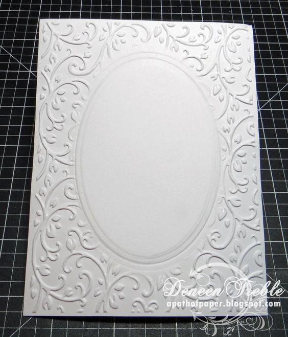 A Path of Paper: Inspired Stamps: Embossing Techniques using the Cuttlebug...with photos!