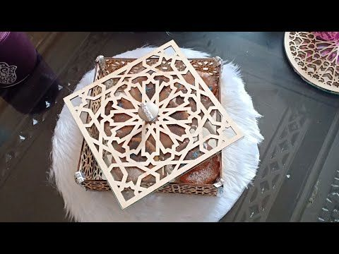 أعمال يدوية اصنعي بنفسك صينية علبة لتقديم الحلوى أو التمر بخشب الليزر كتهبل Youtube Crochet Purse Patterns Purse Patterns Decorative Pieces