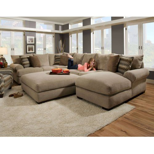 Corinthian 61a3lc 3 Piece Bacarat Taupe Sectional Sofa Comfortable Sectional Sofa Couches Living Room Sectional Sofa With Chaise