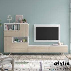 Meuble TV design mural Smelda ATYLIA