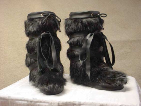Peter Paul Fur Alaskan Mukluks Snow Boots Mens