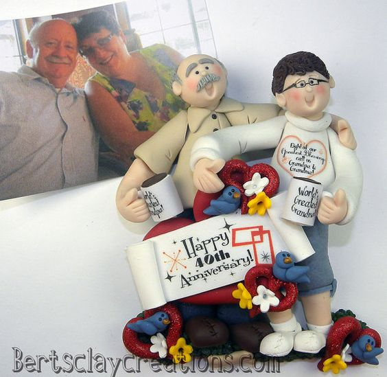 DEPOSIT for Custom Anniversary Ornament  You by BertsClayCreations (Art & Collectibles, Sculpture, Figurines, custom ornaments, polymer clay, personalized orname, family ornaments, ornaments, custom sculptures, grandchildren orname, grandkids, childrens ornaments, grandparent ornament, grandpa ornament, grandma ornament, grandchildren)