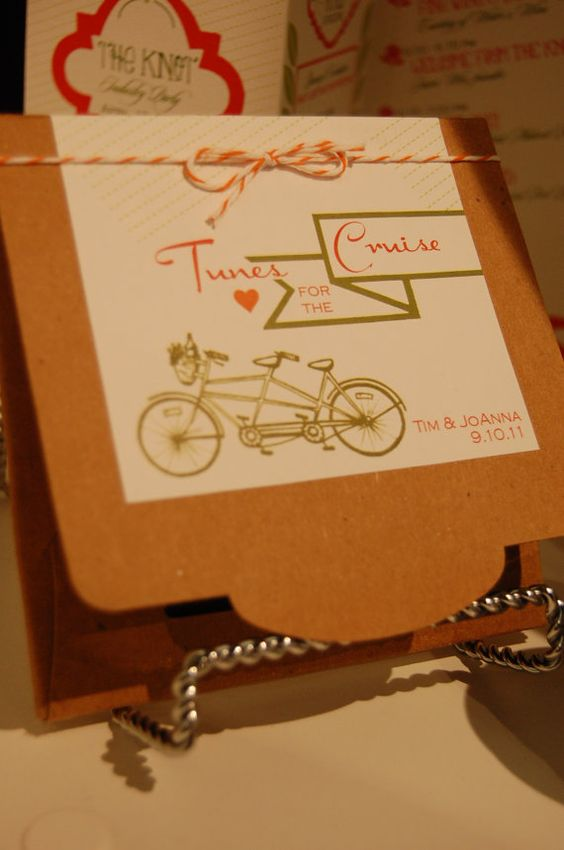 Tunes for the Cruise  CD Wedding Favor by SweetZionPaperie on Etsy, $2.50